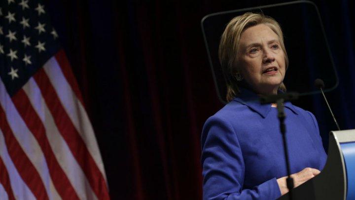 AFP | Hillary Clinton lors de sa dernière apparition publique, à Washington, le 16 novembre.
