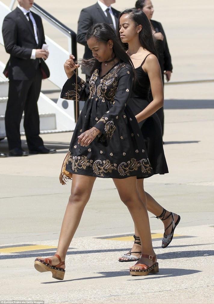 Malia et Sasha, les filles de Barack et Michelle Obama, comme elles sont belles