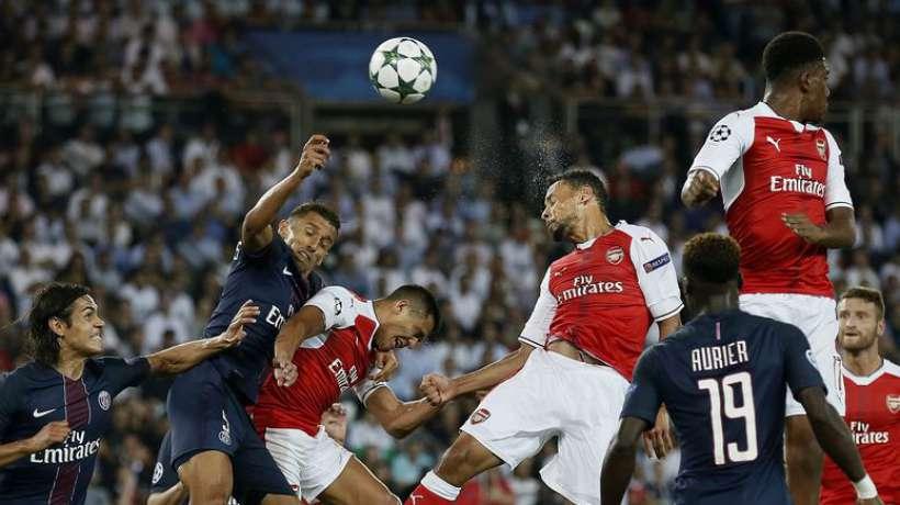 Ligue des champions UEFA: Arsenal et le PSG se quittent sur un match nul 2-2