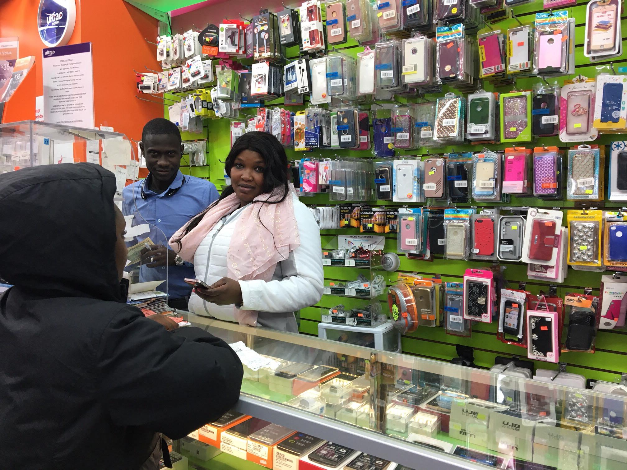 Khalifa Ndiaye, Prestige Multimédia-electronic store, New York