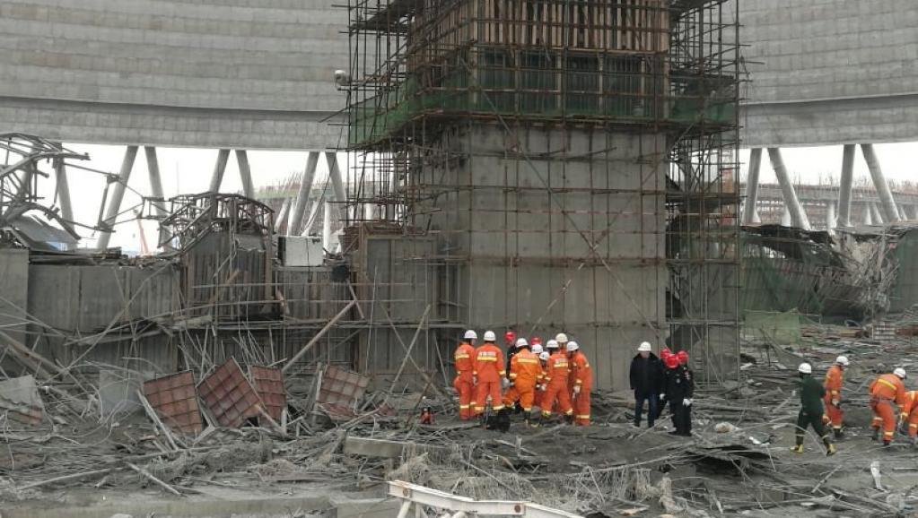 Le site de l'accident du jeudi 24 novembre 2016 à Fengcheng, dans le Jiangx