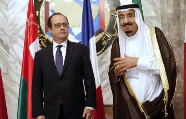 Le Président François Hollande en compagnie du roi Salman d'Arabie Saoudite