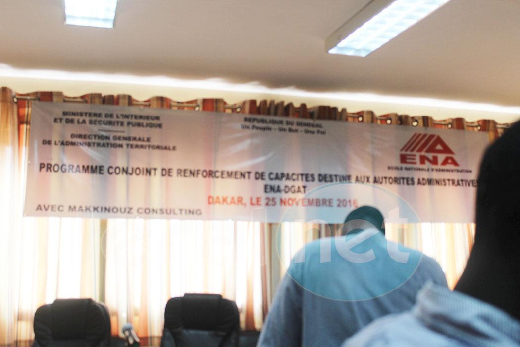 Atelier de  renforcement des capacités des autorités administratives.