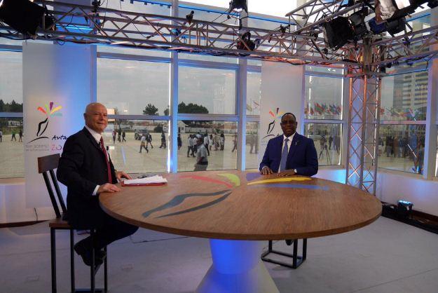 Le président Macky Sall sur le plateau de Tv5 monde