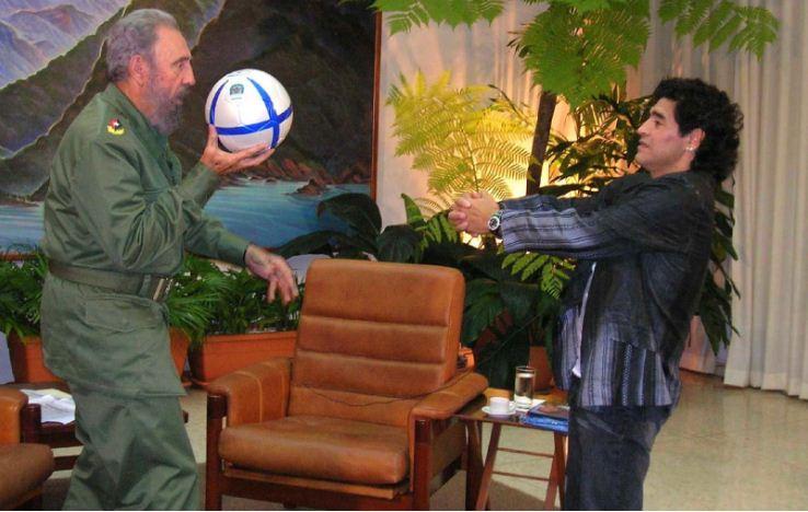 Fidel Castro et Diego Maradona