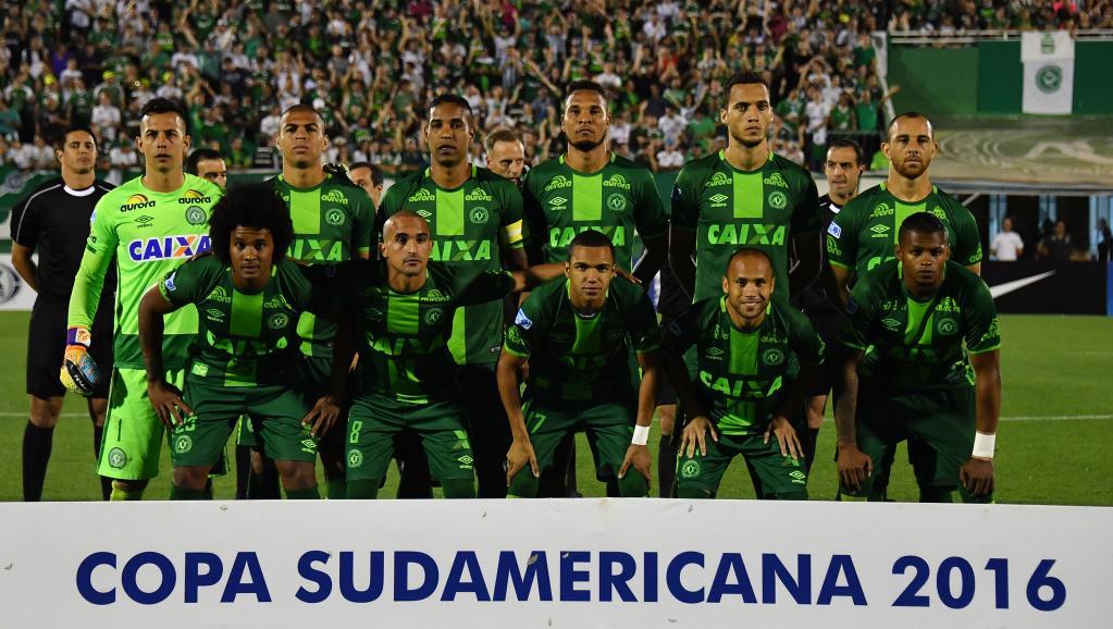 L'équipe de Chapecoense (ici lors d'un match contre l'équipe argentine de San Lorenzo, le 23 novembre 2016