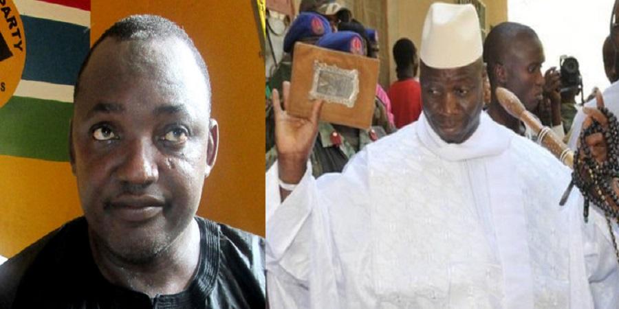 Les deux candidats à l'élection présidentielle en Gambie  Adama Barrow et Yaya Jammeh