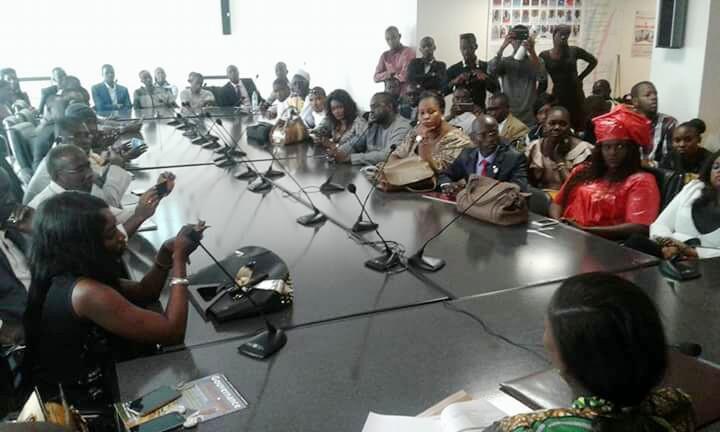 Thérèse Faye Diouf et Mambaye Niang fument le calumet de la paix..à quelques jours de  l'Université républicaine de la COJER