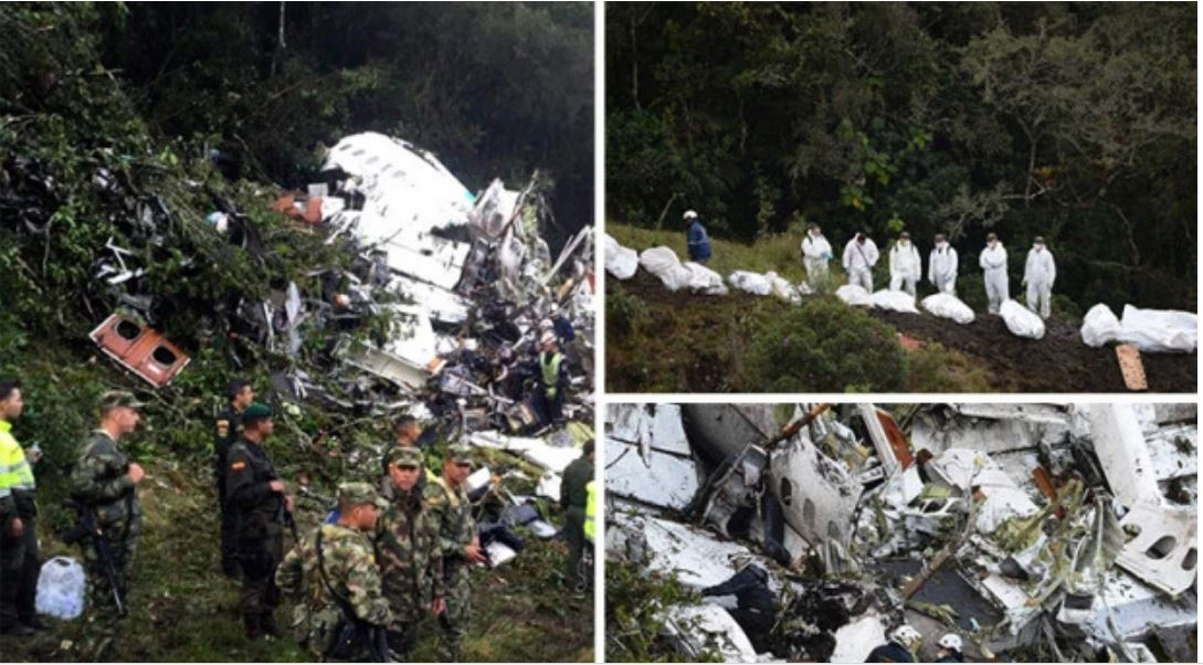 Horrible : De nouvelles photos du crash d'avion des Brésiliens, âmes sensibles s'abstenir