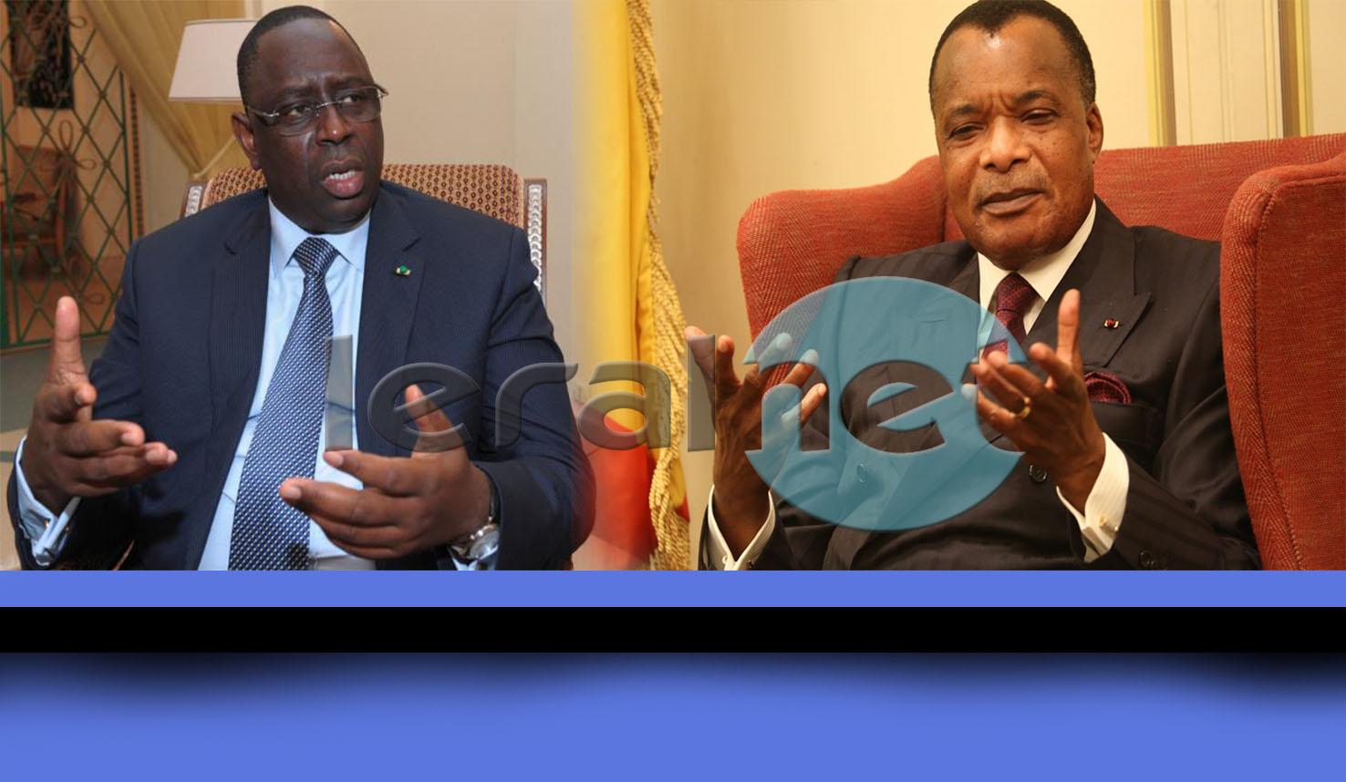 M. Sassou-Nguesso a été accueilli par son homologue du Sénégal, Macky Sall, à son arrivée dans la capitale sénégalaise.