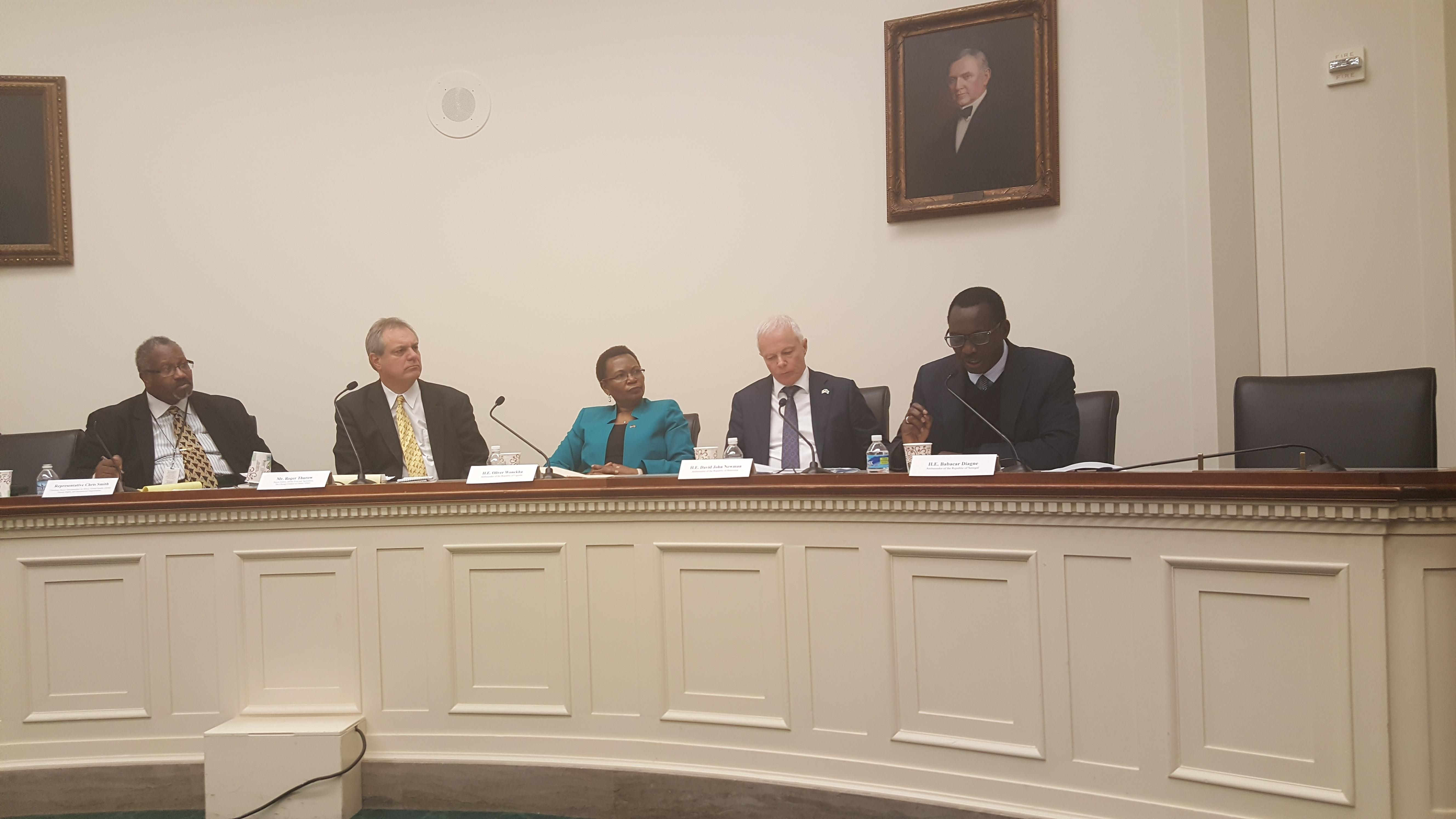 Babacar Diagne, Ambassadeur  du Sénégal à Washington expose aux Congrès américain les besoins et les résultats du Sénégal en matière de lutte contre la malnutrition