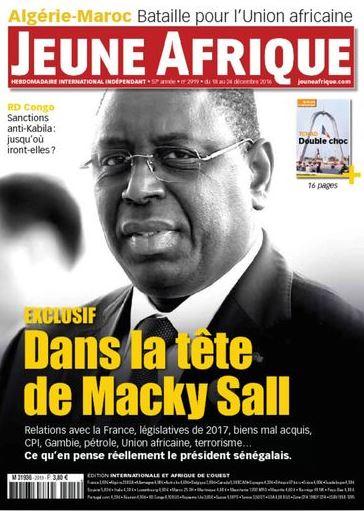 Macky Sall fait la une du Jeune Afrique