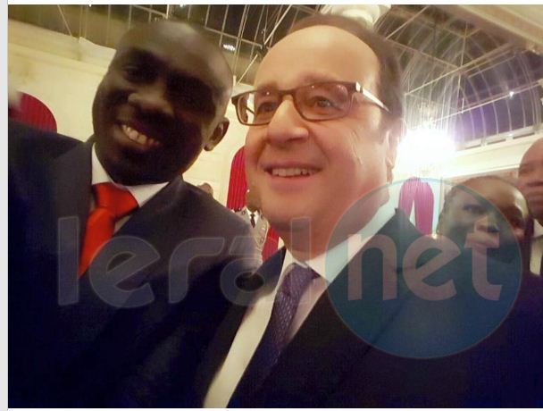 Papa Diouf et le président Hollande