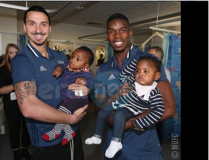 Assistance d'enfants malades : Pogba, Zlatan et les stars de MU ont du cœur