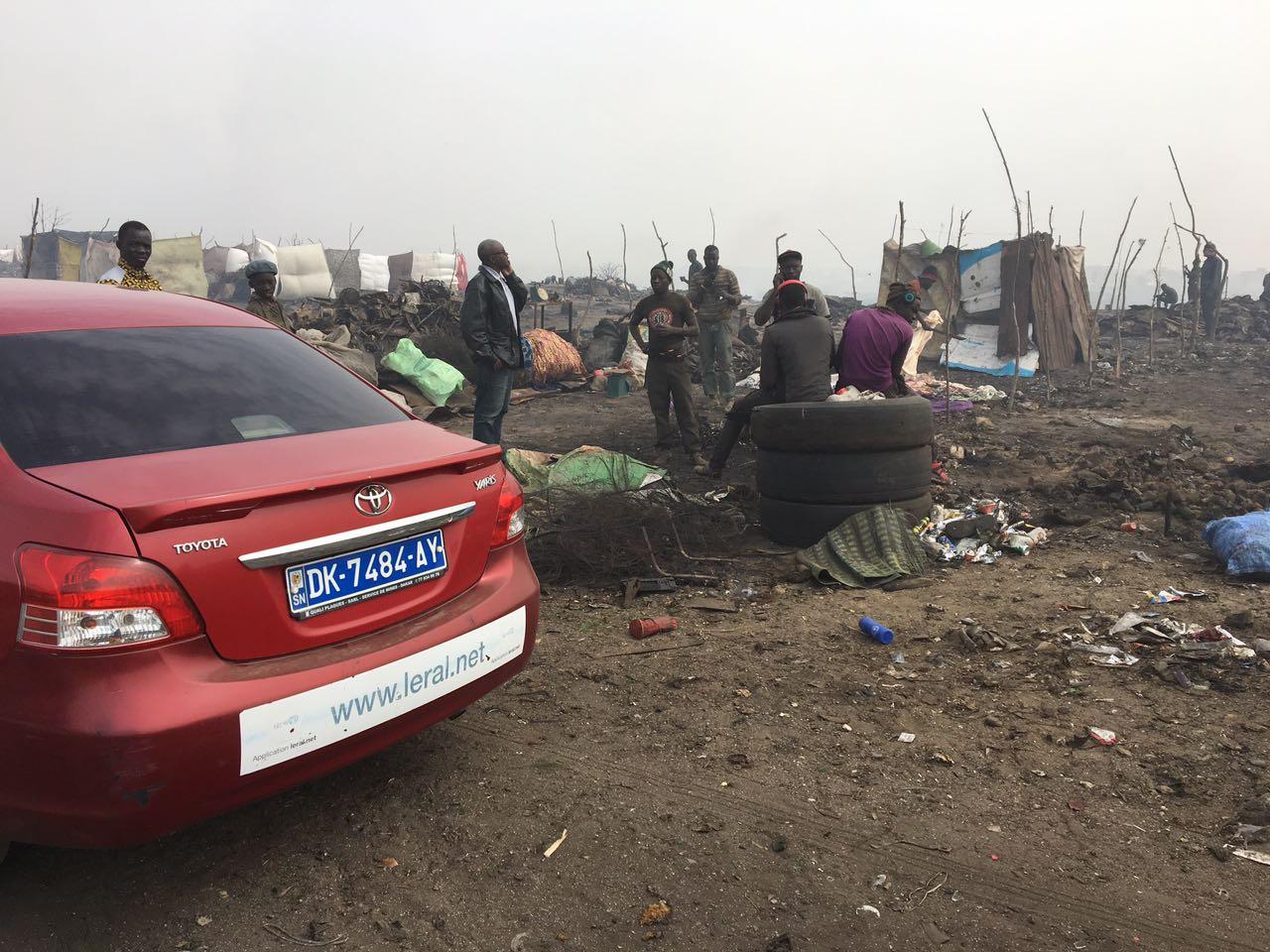 Voici les images prises par un drone, Mbeubeuss après l'incendie du jeudi dernier!!