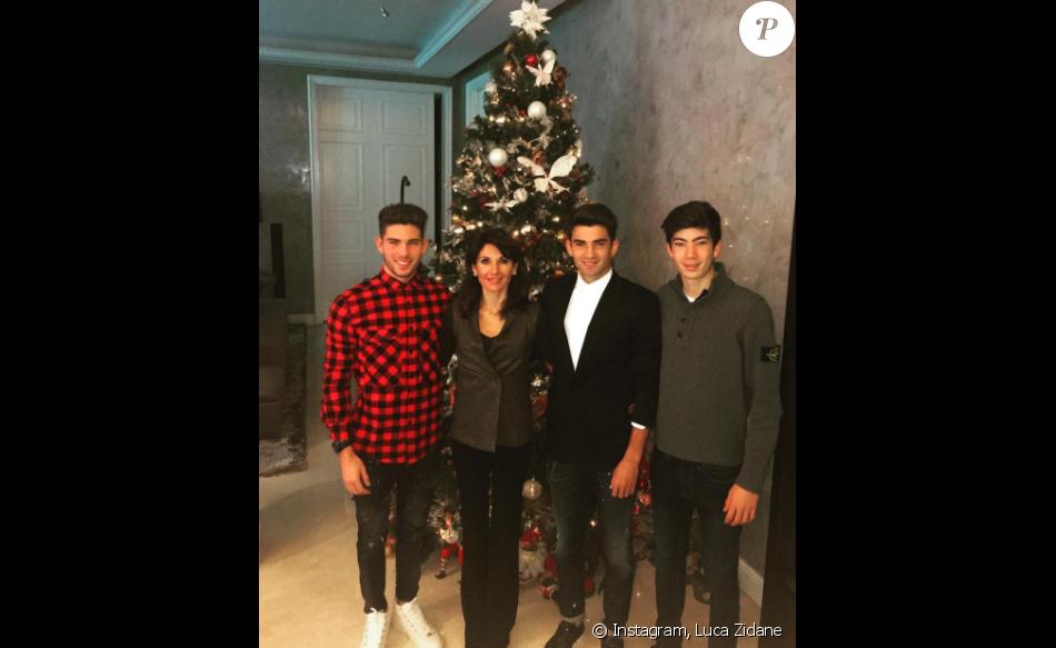 Les Zidane prêts pour Noël : Luca partage une jolie photo de famille