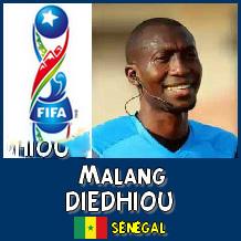Top 2016 de la Fifa : Le Sénégalais Malang Diédiou 14ème arbitre dans le monde