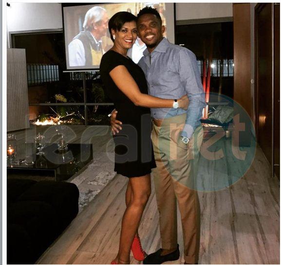 Samuel Etoo et sa femme