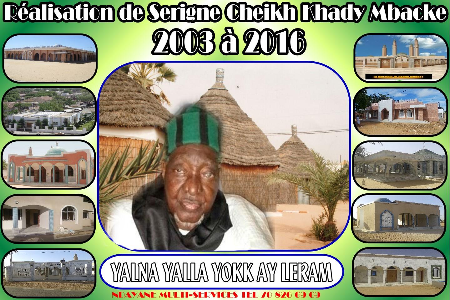 Commémoration du rappel à Dieu de Baay Cheikh Khady Mbacké, 3ème Khalife de Borom Darou