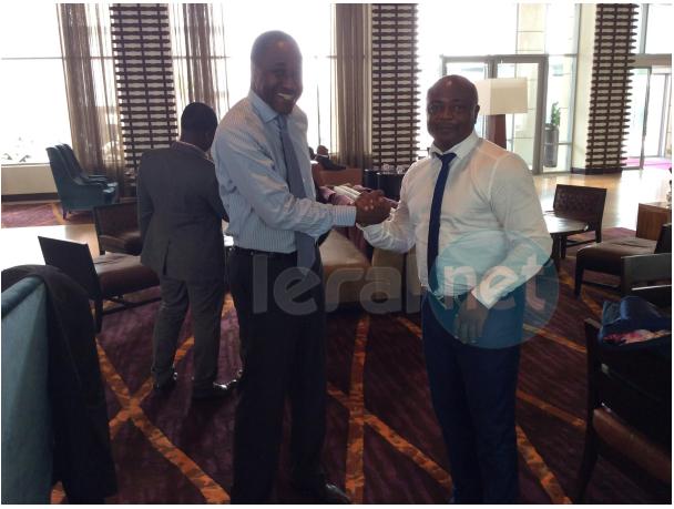 Photos : le légendaire footballeur Abedi Pelé à Accra avec Adama Gaye