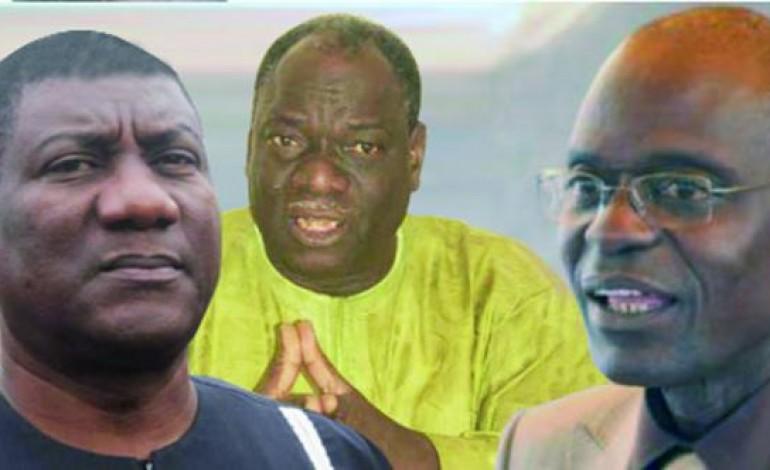 Les responsables syndicaux ModyGuiro, Mamadou Diop Castro et Cheikh Diop
