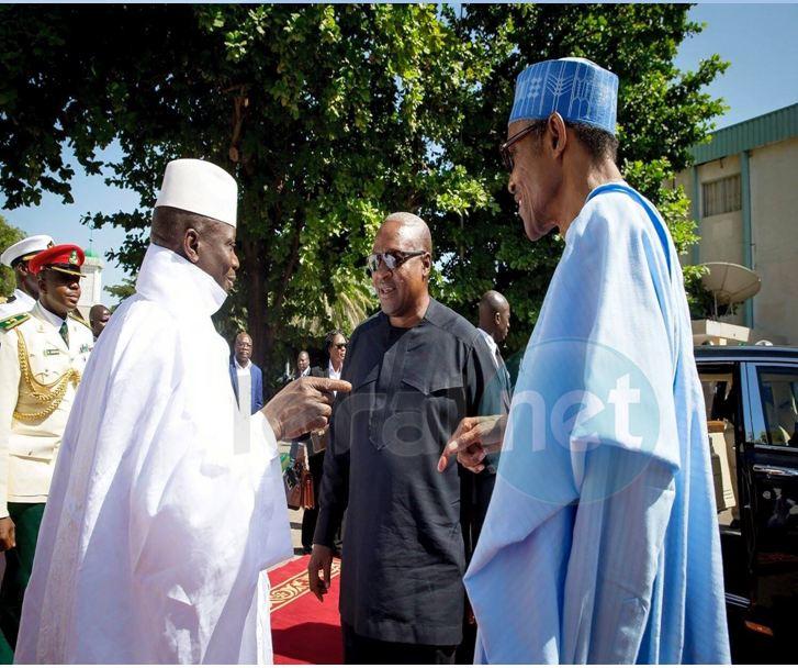 Muhammadu Buhari et Yahya Jammeh