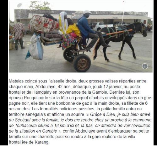 Des gambiens fuient leur pays par peur de représailles