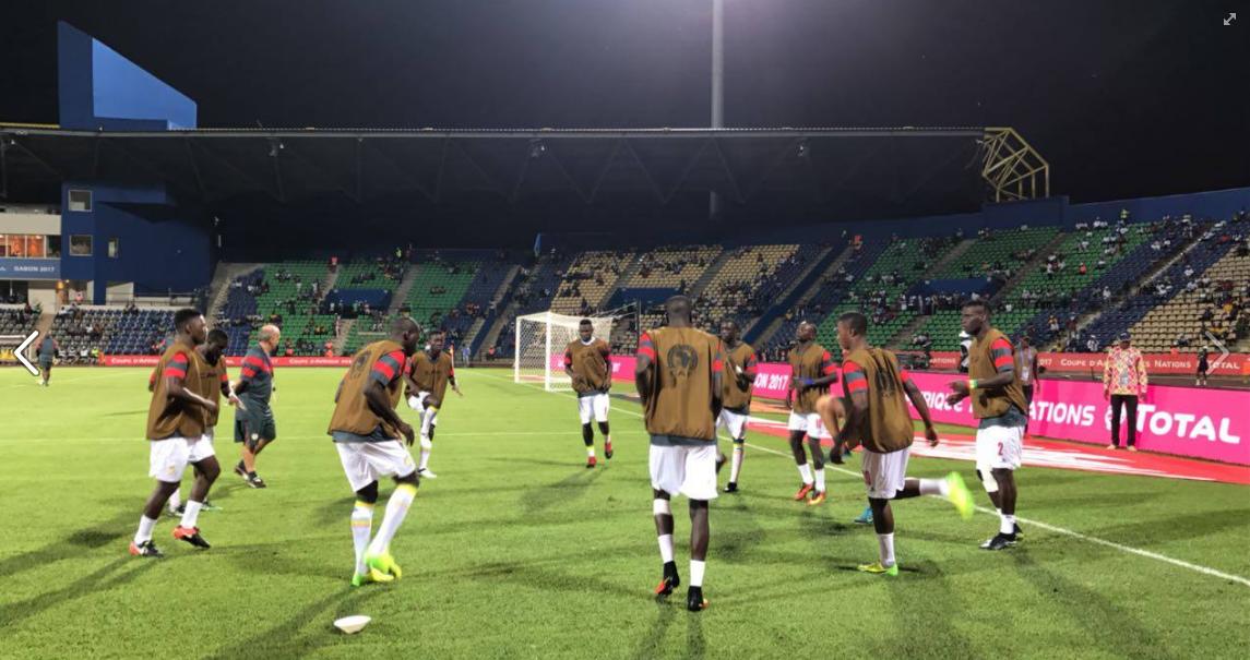 Photos: échauffement d'avant match des Lions  contre le Zimbabwe
