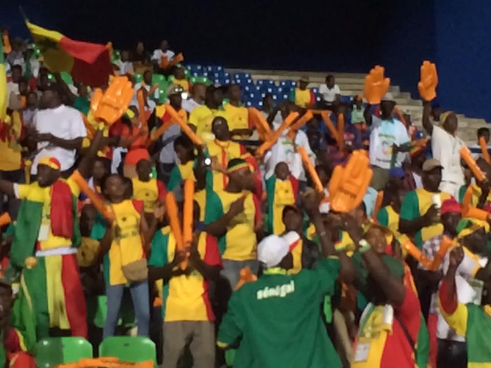 Photos- Match - Sénégal vs Cameroun, le 12e Gaïndé déjà sur place au stade de Franceville