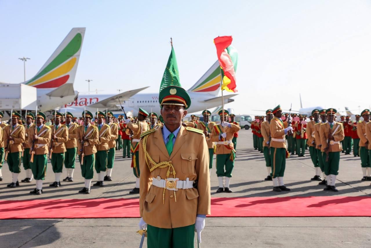 Arrivée du Chef de l'Etat à Addis-Abeba pour le Sommet de l'Union Africaine.