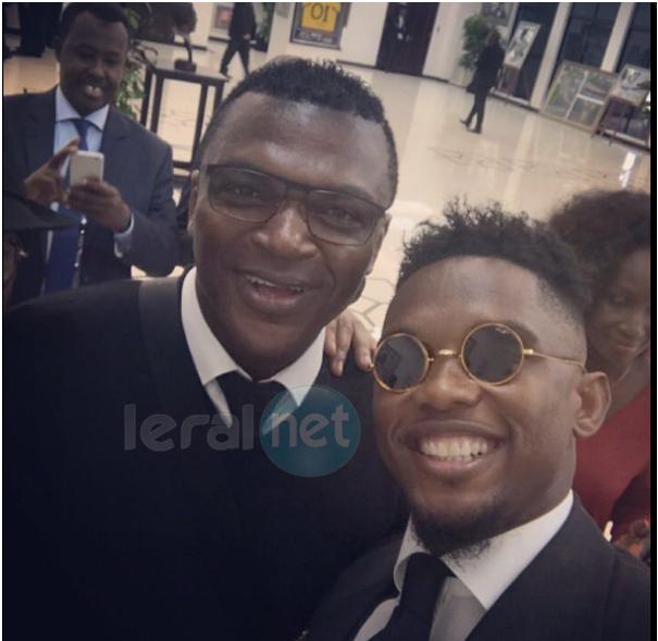 Photos: Samuel Eto'o et Marcel Desailly au Stade de l'Amitié pour suivre la finale de la CAN Gabon 2017 (Cameroun vs Egypte)