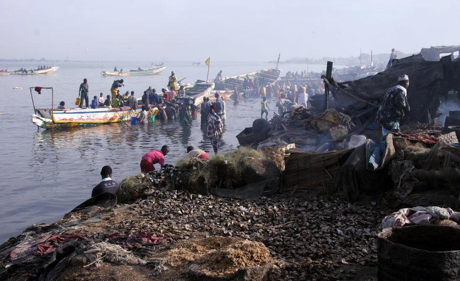 Le quai de pêche de Guet Ndar à Saint-Louis