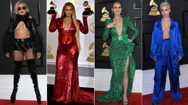 Lady Gaga, Beyoncé, Céline Dion : avalanche de décolletés aux Grammy 2017