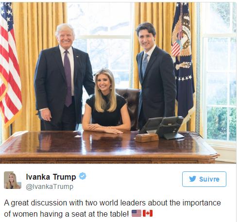 Cette photo d'Ivanka Trump dans le fauteuil du Bureau ovale fait polémique