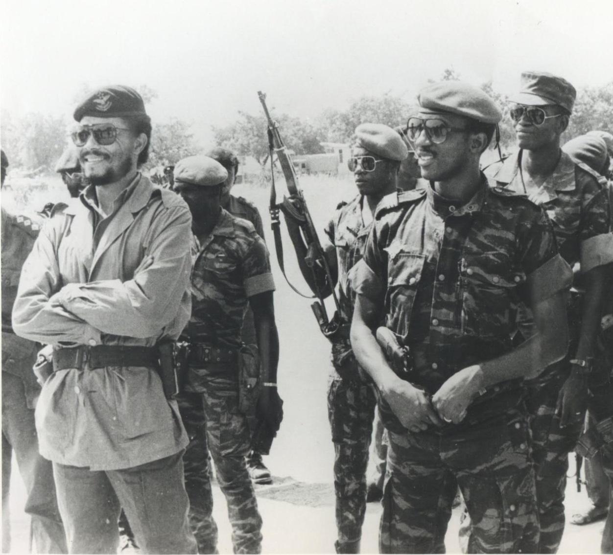 Image d'archives : Thomas Sankara, ancien président du Burkina Faso.