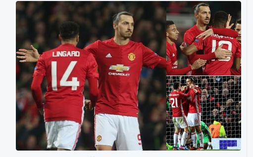 Manchester United coule Saint-Etienne avec un triplé de Zlatan Ibrahimovic