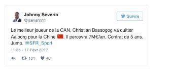 Vidéo: Le camerounais Christian Bassogog signe en Chine avec un salaire incroyable