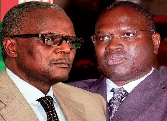 Le secrétaire général du PS Ousmane Tanor Dieng et le secrétaire général chargé de la vie politique Khalifa Sall au coeur des divisions au PS