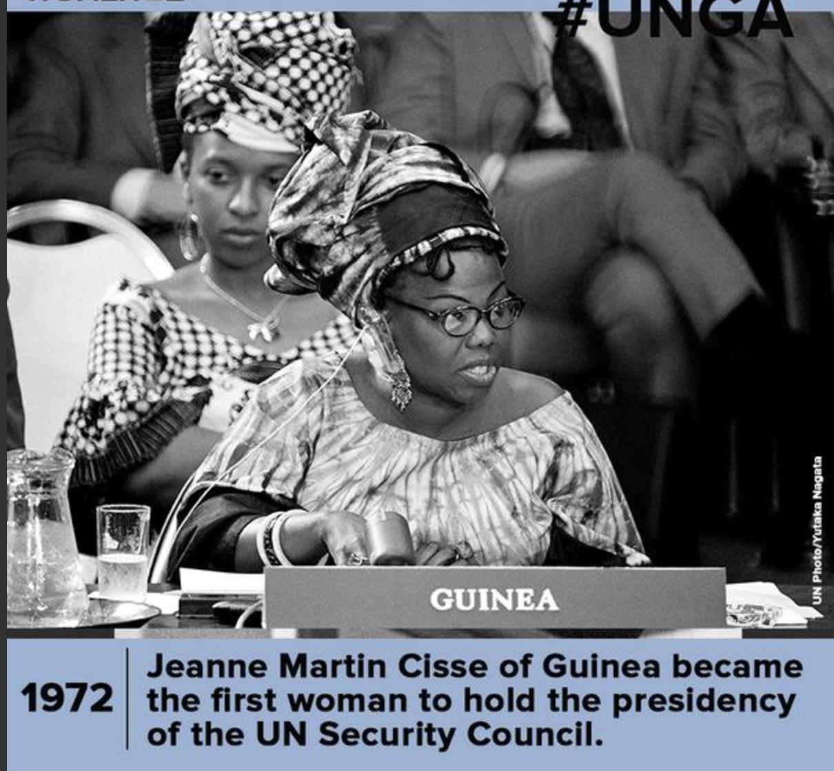 Jeanne Martin Cissé vient de nous quitter à 92 ans, la première femme à avoir présidé le Conseil de Sécurité des Nations-Unies en 1972