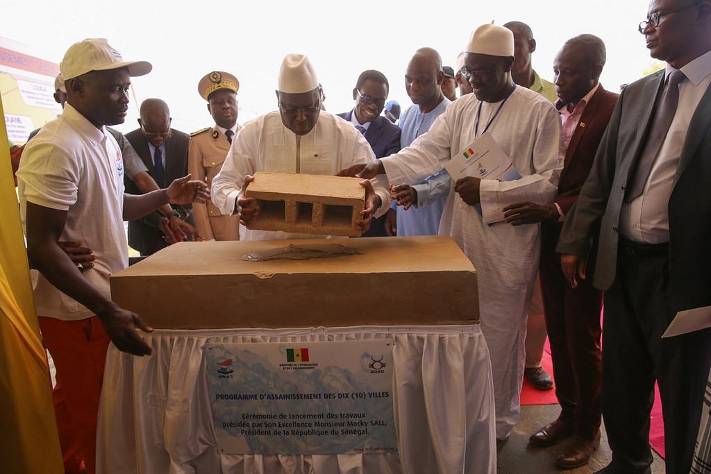 Les images du lancement à Louga du programme d'assainissement des dix villes du Sénégal