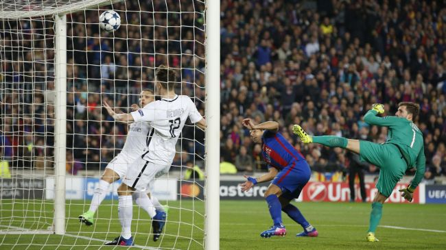 LIGUE DES CHAMPIONS • 8e de finale retour :FC Barcelone -Paris Saint-Germain, Luis Suarez ouvre le score à la 3e minute