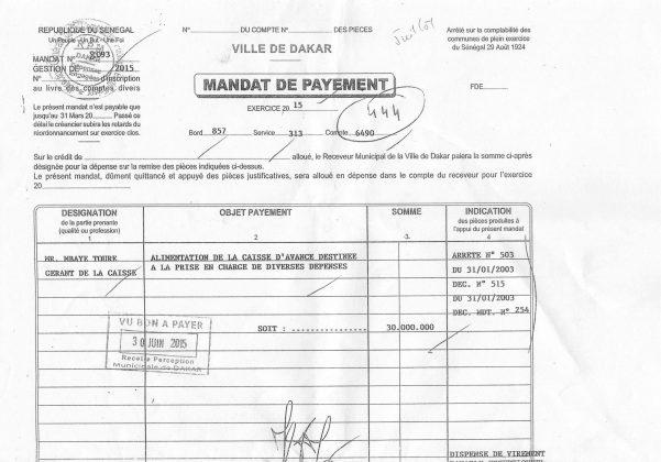 Fausses factures du Gie Keur Tabbar, faux procès-verbaux de réception et mandats de payement signés de sa main : Au-delà des aveux de Mbaye Touré & Cie, voici les preuves matérielles qui enfoncent Khalifa Sall