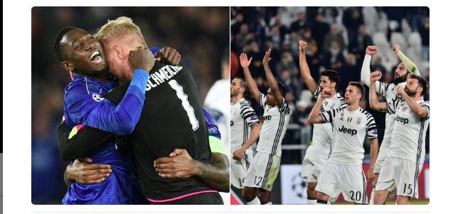 Leicester et la Juventus rejoignent les 1/4 de finale de la Champions League :