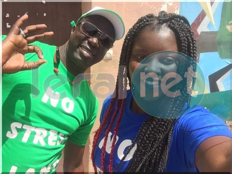 Photos-Abiba et Fallou a la journée de Solidarité de NO STRESS LAND au Camp Pénal le samedi 11 mars dernier