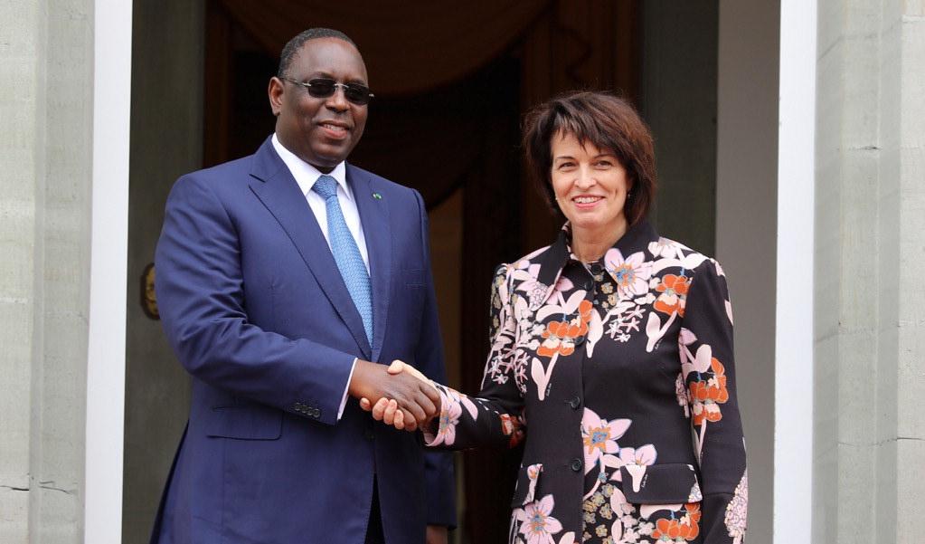 Visite officielle: Le Président Sall reçu par la présidente de la Confédération suisse