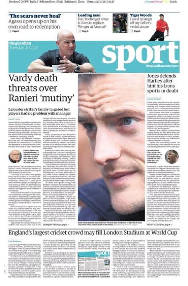 Le footballeur Jamie Vardy menacé de mort. Les raisons