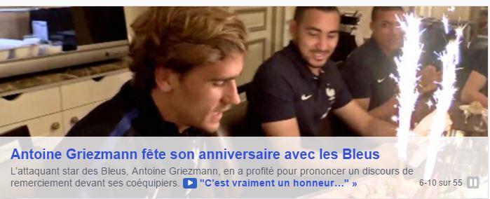 VIDEO - Griezmann fête son anniversaire avec les Bleus