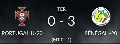 """""""Tournoi U20 des 4 nations"""" : le Sénégal bat le Portugal (3-0)"""