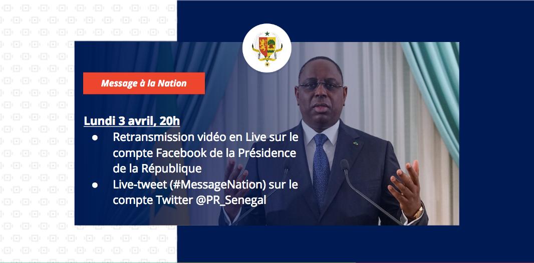 La Présidence de la République innove avec la retransmission en direct du discours du Chef de l'Etat sur Facebook