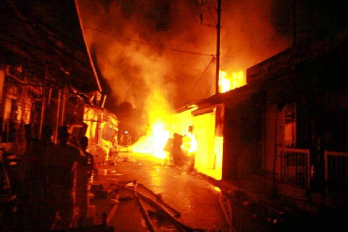 Incendie au Marché HLM: Une quarantaine de cantines ravagées par les flammes